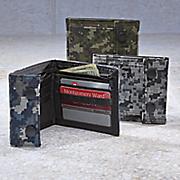Pixilated Nylon Camo Wallet