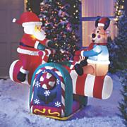 santa   reindeer teeter totter inflatable