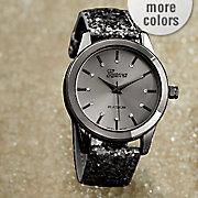 glitter strap watch