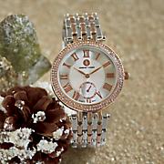 adrienne vittadini crystal bracelet watch