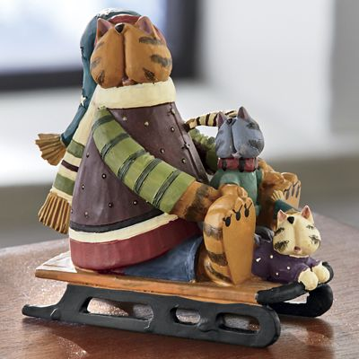 Cool Cats Running Figurine