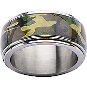 stainless steel camo ring