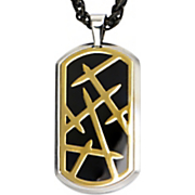 stainless steel thorn dog tag pendant