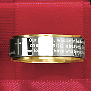 stainless steel lord s prayer ring