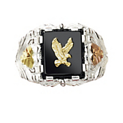 black hills gold eagle emblem ring