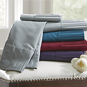striped embossed microfiber sheet set