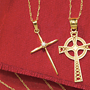 diamond cross pendant 2