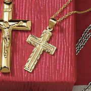 textured cross pendant
