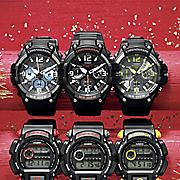 men s black chrono watch by casio