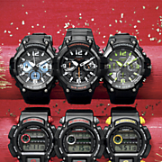 men s black chrono watch by casio
