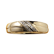men s diamond double swirl band