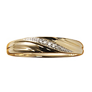 men s diamond single swirl band