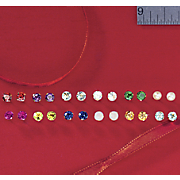 10K Gold Birthstone Post Earrings