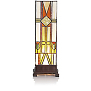 Stained Glass Mission-Style Uplight Lamp