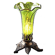 Mercury Glass Lily Lamp
