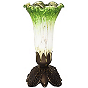 battery operated mercury glass lily lamp