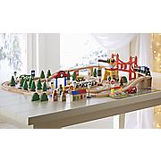 100 pc  wooden train set