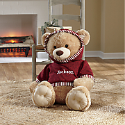 bear with personalized hoodie