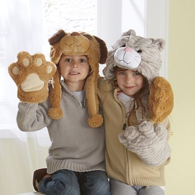 Plush Dog Hat and Paws