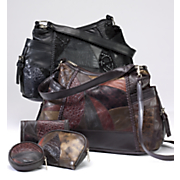 4 piece courtney leather purse set