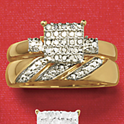 diamond square swirl bridal set