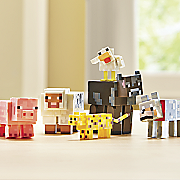 6 pc  minecraft animal set