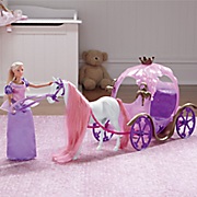 fairy tale carriage and doll