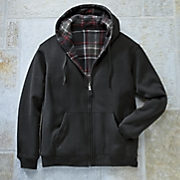 Reversible Black Plaid Hoodie