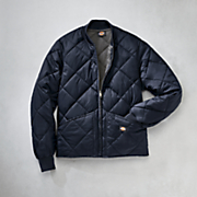 diamond quilted nylon jacket by dickies