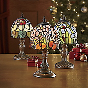 3 piece stained glass lamp set 2
