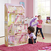 4 story doll house and furniture set