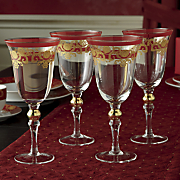 4 piece venetian tapestry wineglass set