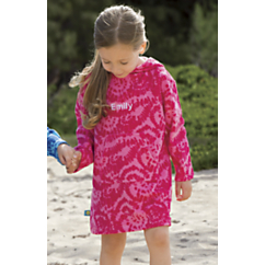 sun smarties pink terry hoodie