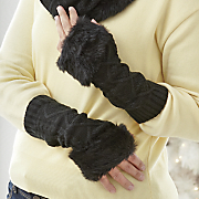 cableknit fingerless gloves