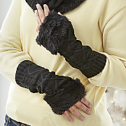 Cableknit Fingerless Gloves