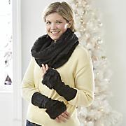 Cableknit Faux Fur Accessories