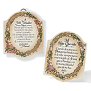Mother and Sister Plaques