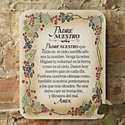 padre nuestro prayer plaque