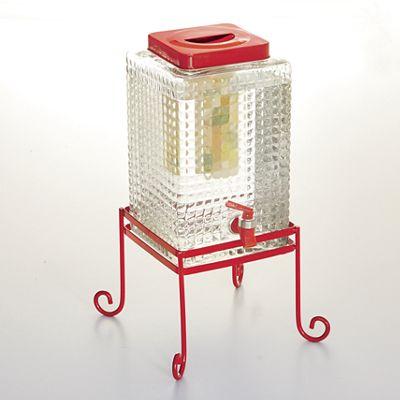 2.5-Gallon Square Beverage Dispenser with Stand