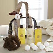 argan oil   vanilla bath set