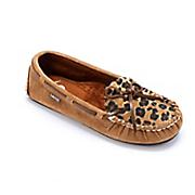 Sabrina Leopard Moc Shoe by Lamo