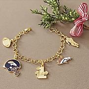 nfl charm bracelet
