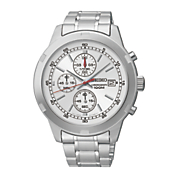 Seiko Mens Silvertone Chrono Watch