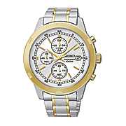 Seiko Mens Two Tone Chrono Watch