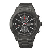 Seiko Mens Back Chrono Watch