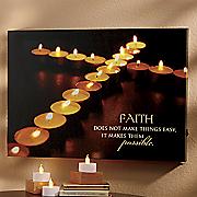 Faith Lighted Canvas Print