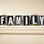 family wood blocks