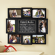 Family Rules Collage Frame
