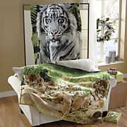animal fleece throw