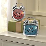 glitter smiley face alarm clock